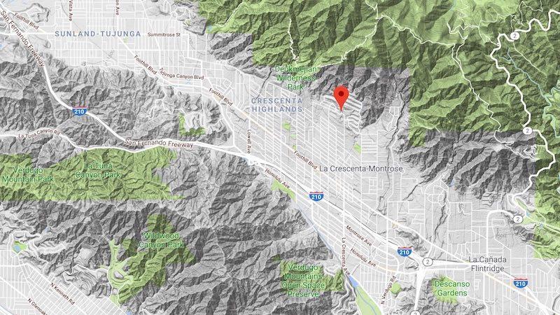crescenta valley map